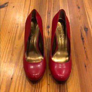 Jessica Simpson candy red women's heels - size 7.5